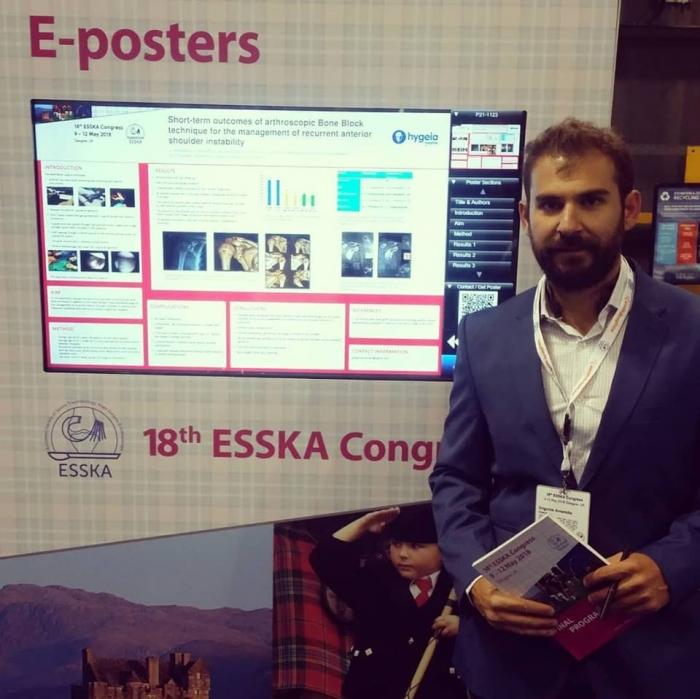 18ο Ευρωπαϊκό Συνέδριο Αθλητιατρικής και Αρθροσκοπικής Χειρουργικής, ESSKA, Γλασκώβη 2018