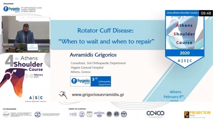 Oral Presentation in 4th Athens Special Physio Shoulder Course. Ομιλία στο 4ο Διεθνές Συνέδριο Ώμου