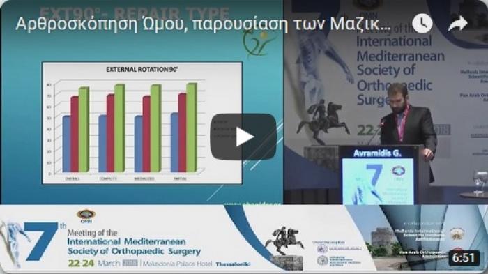 Ομιλία, Αρθροσκόπηση Ώμου, 7ο Διεθνές Μεσογειακό Συνέδριο Ορθοπαιδικής Χειρουργικής Κοινότητας, Θεσσαλονίκη 22 - 24 Μαρτίου 2018